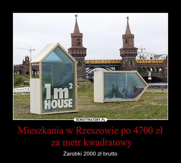 Mieszkania w Rzeszowie po 4700 zł za metr kwadratowy – Zarobki 2000 zł brutto