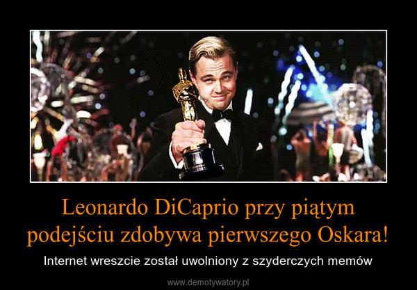Leonardo DiCaprio przy piątym podejściu zdobywa pierwszego Oskara! – Internet wreszcie został uwolniony z szyderczych memów