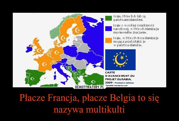 Płacze Francja, płacze Belgia to się nazywa multikulti –