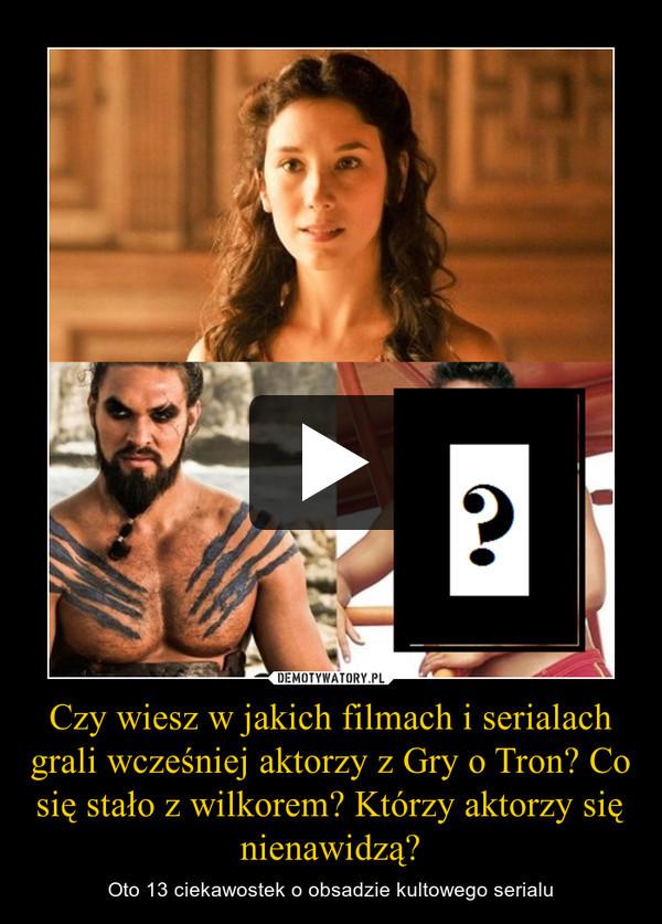 Czy wiesz w jakich filmach i serialach grali wcześniej aktorzy z Gry o Tron? Co się stało z wilkorem? Którzy aktorzy się nienawidzą? – Oto 13 ciekawostek o obsadzie kultowego serialu