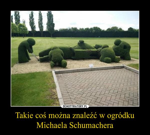 Takie coś można znaleźć w ogródku Michaela Schumachera –