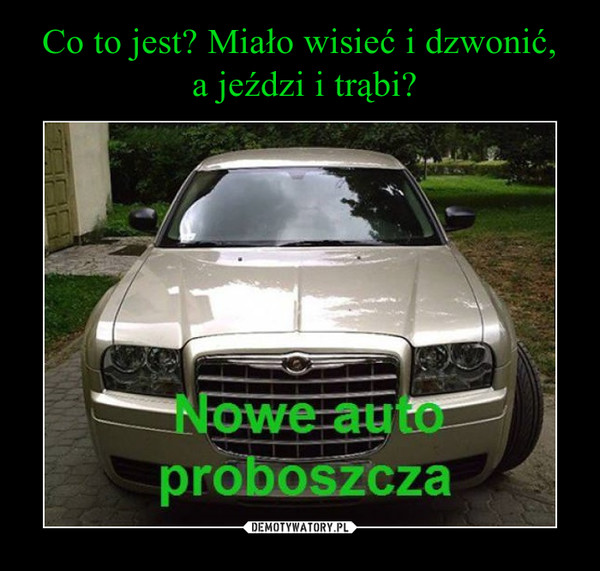 –  Nowe auto proboszcza