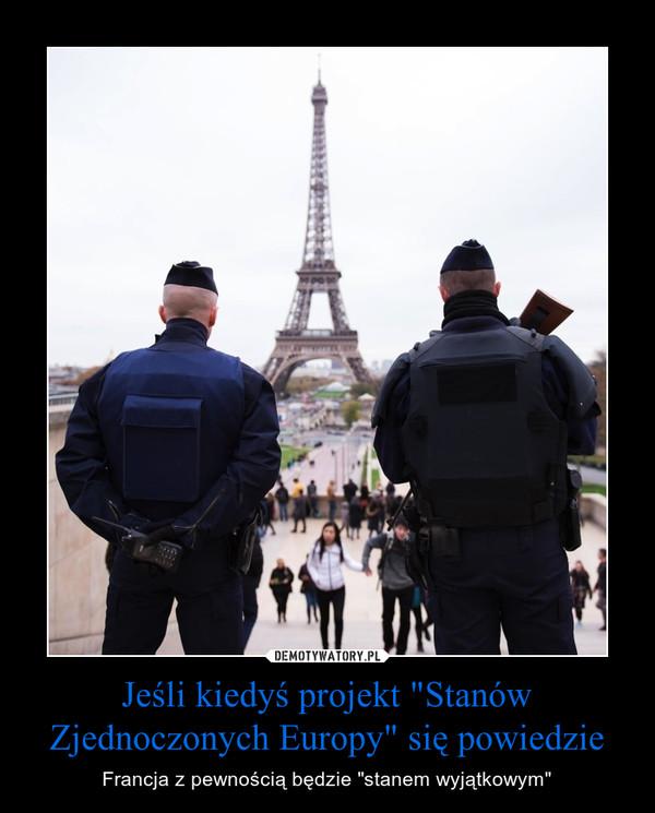 """Jeśli kiedyś projekt """"Stanów Zjednoczonych Europy"""" się powiedzie"""