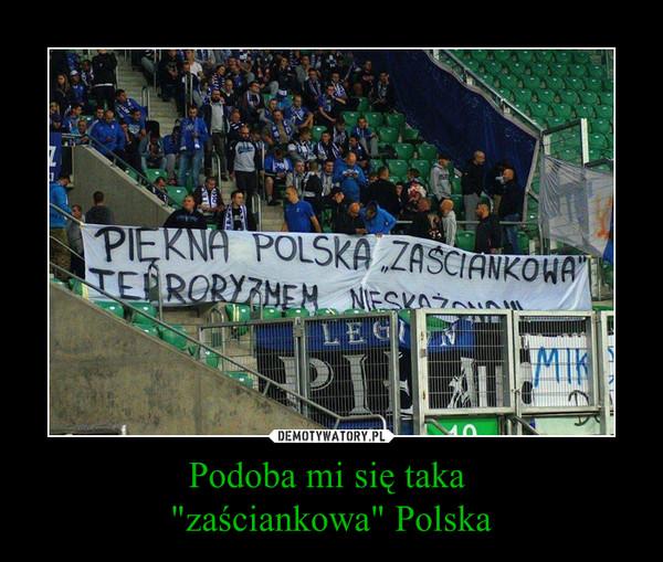 """Podoba mi się taka """"zaściankowa"""" Polska –"""