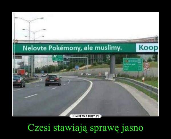 Czesi stawiają sprawę jasno –