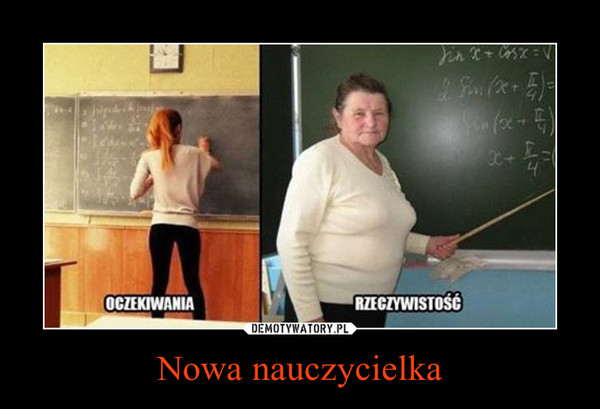 Nowa nauczycielka –  OCZEKIWANIA RZECZYWISTOŚĆ