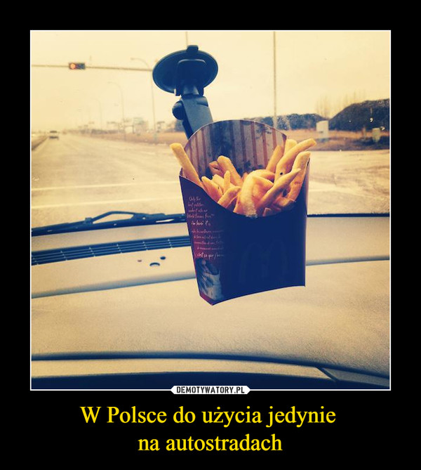 W Polsce do użycia jedynie na autostradach –