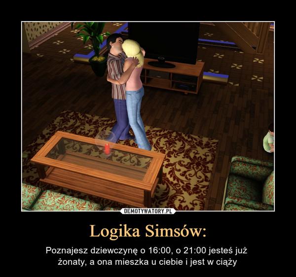 Logika Simsów: – Poznajesz dziewczynę o 16:00, o 21:00 jesteś już żonaty, a ona mieszka u ciebie i jest w ciąży