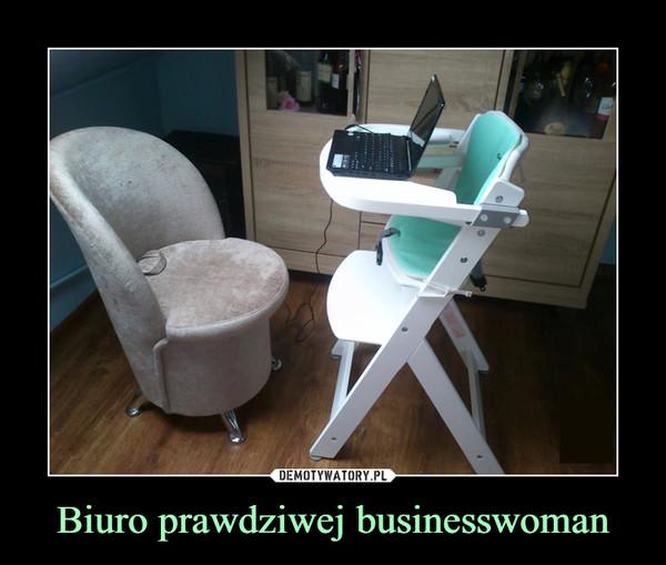 Biuro prawdziwej businesswoman –