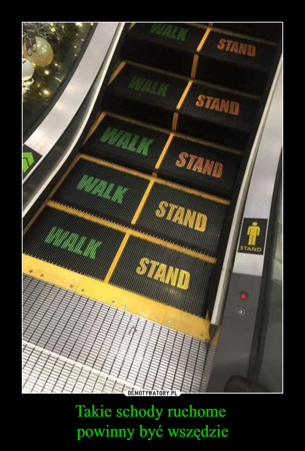 Takie schody ruchome powinny być wszędzie –  WALK STAND