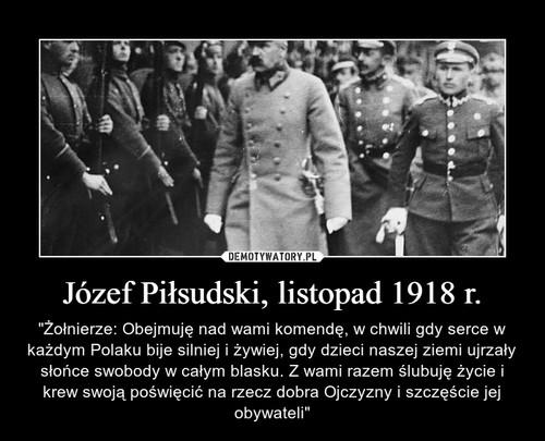 Józef Piłsudski, listopad 1918 r.