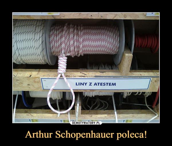 Arthur Schopenhauer poleca! –