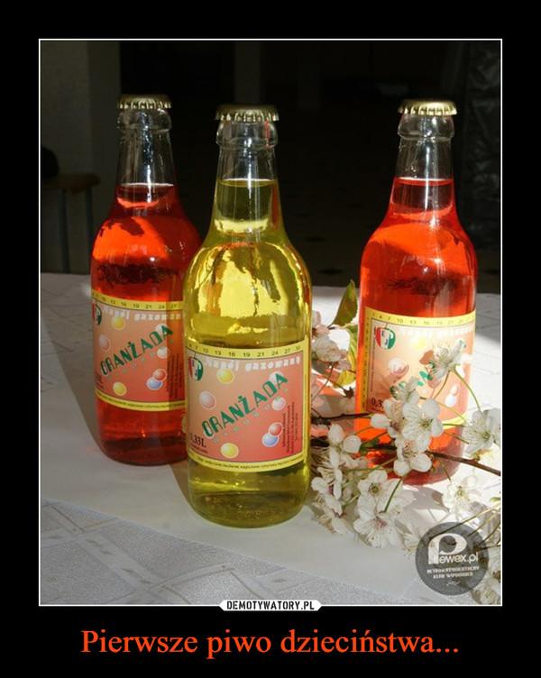 Pierwsze piwo dzieciństwa... –