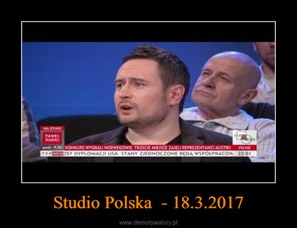 Studio Polska  - 18.3.2017 –