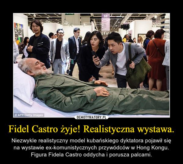 Fidel Castro żyje! Realistyczna wystawa. – Niezwykle realistyczny model kubańskiego dyktatora pojawił się na wystawie ex-komunistycznych przywódców w Hong Kongu. Figura Fidela Castro oddycha i porusza palcami.