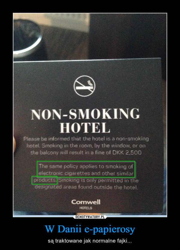 W Danii e-papierosy – są traktowane jak normalne fajki...