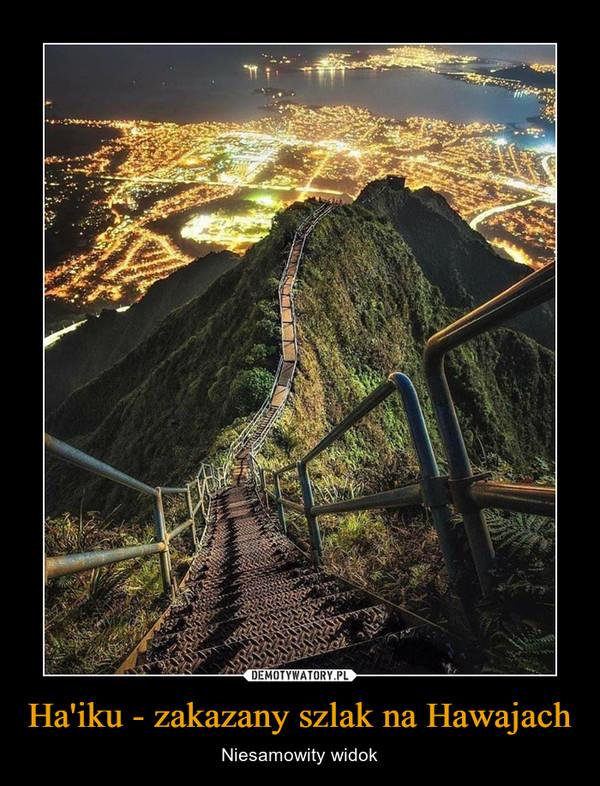 Ha'iku - zakazany szlak na Hawajach – Niesamowity widok