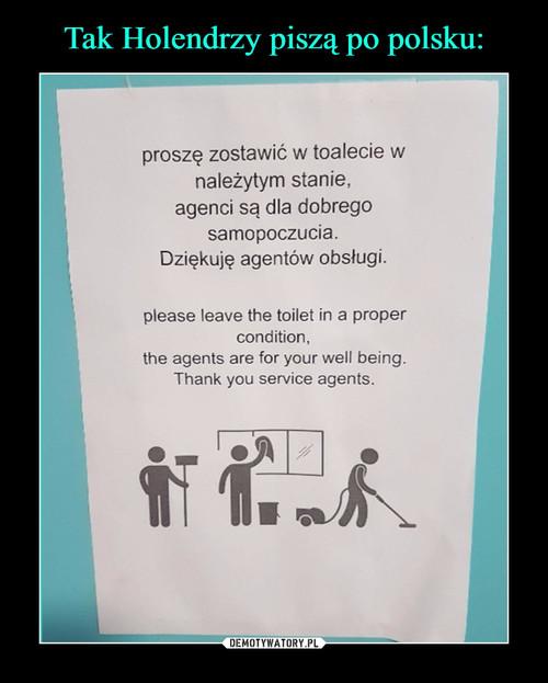 Tak Holendrzy piszą po polsku: