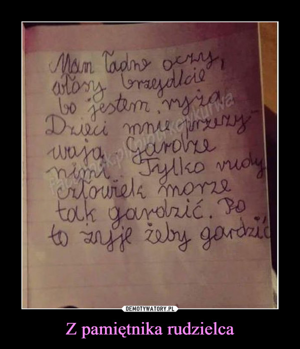 Z pamiętnika rudzielca –