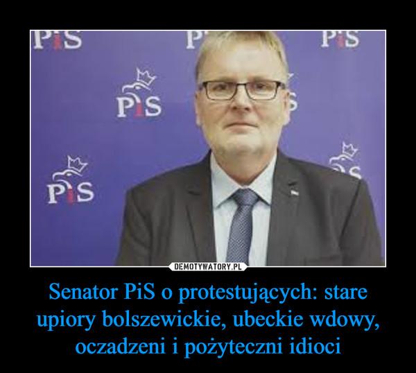 Senator PiS o protestujących: stare upiory bolszewickie, ubeckie wdowy, oczadzeni i pożyteczni idioci –