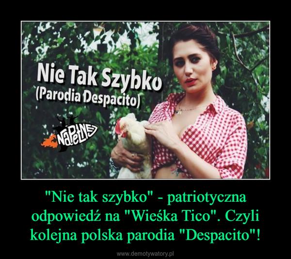 """""""Nie tak szybko"""" - patriotyczna odpowiedź na """"Wieśka Tico"""". Czyli kolejna polska parodia """"Despacito""""! –"""