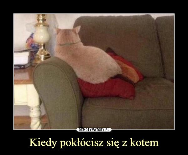 Kiedy pokłócisz się z kotem –