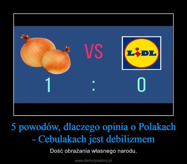 5 powodów, dlaczego opinia o Polakach - Cebulakach jest debilizmem – Dość obrażania własnego narodu.