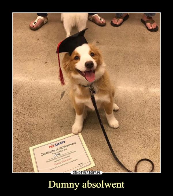 Dumny absolwent –
