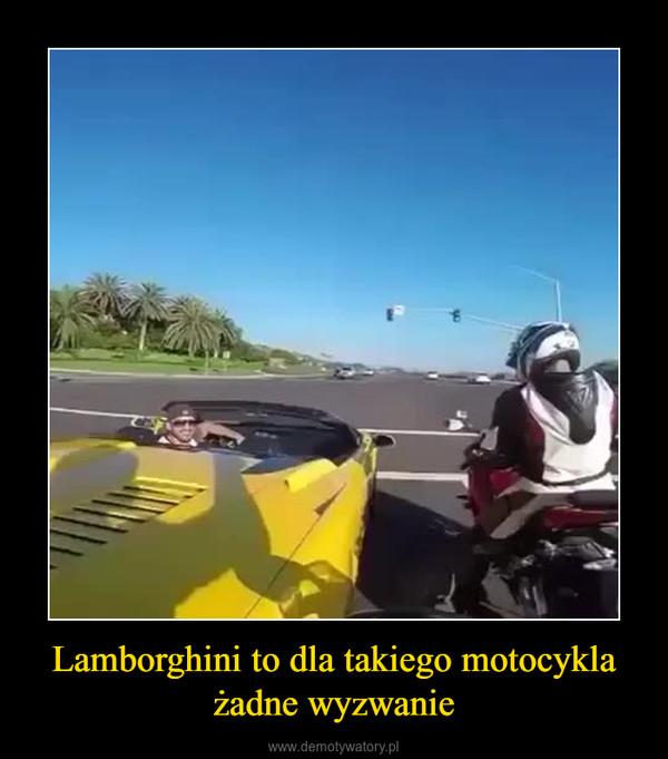 Lamborghini to dla takiego motocykla żadne wyzwanie –