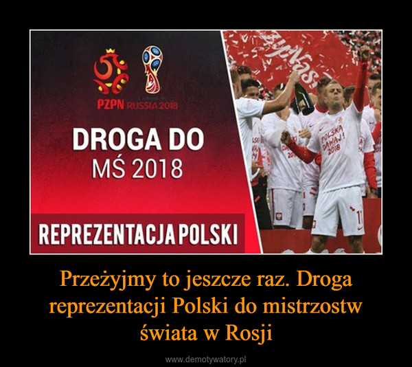 Przeżyjmy to jeszcze raz. Droga reprezentacji Polski do mistrzostw świata w Rosji –