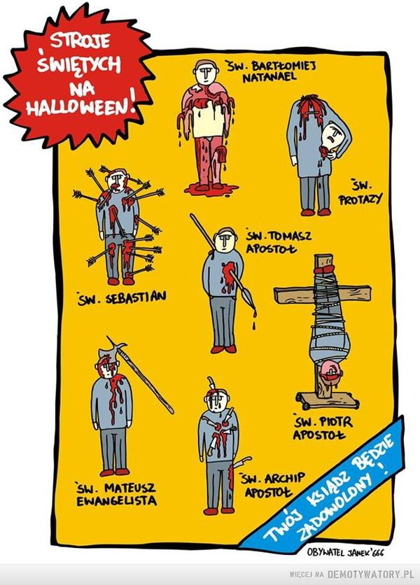 Wszystko da się pogodzić –  stroje świętych na halloweentwój ksiądz będzie zadowolony
