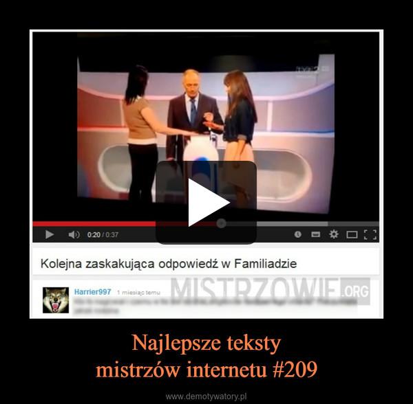 Najlepsze tekstymistrzów internetu #209 –