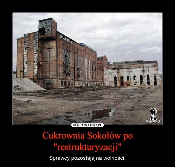 """Cukrownia Sokołów po """"restrukturyzacji"""" – Sprawcy pozostają na wolności."""