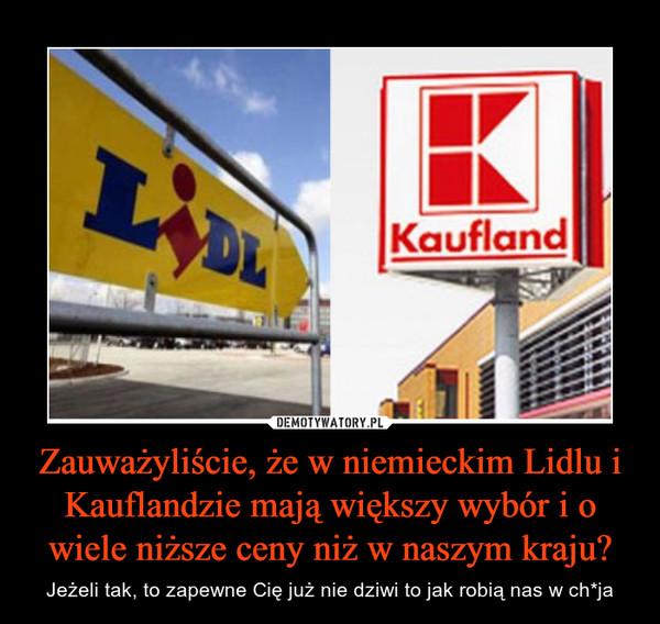 Zauważyliście, że w niemieckim Lidlu i Kauflandzie mają większy wybór i o wiele niższe ceny niż w naszym kraju? – Jeżeli tak, to zapewne Cię już nie dziwi to jak robią nas w ch*ja