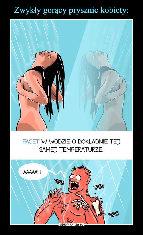 Zwykły gorący prysznic kobiety: