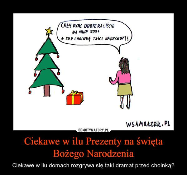 Ciekawe w ilu Prezenty na święta Bożego Narodzenia – Ciekawe w ilu domach rozgrywa się taki dramat przed choinką?