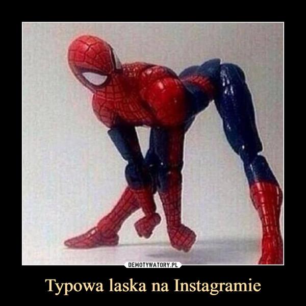 Typowa laska na Instagramie –