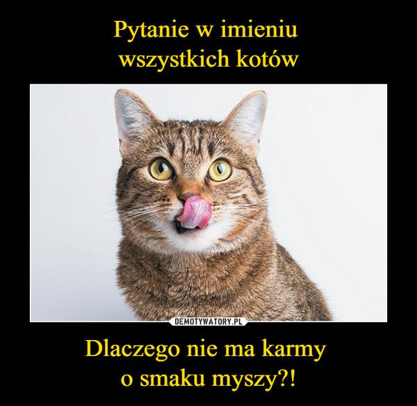 Dlaczego nie ma karmy o smaku myszy?! –