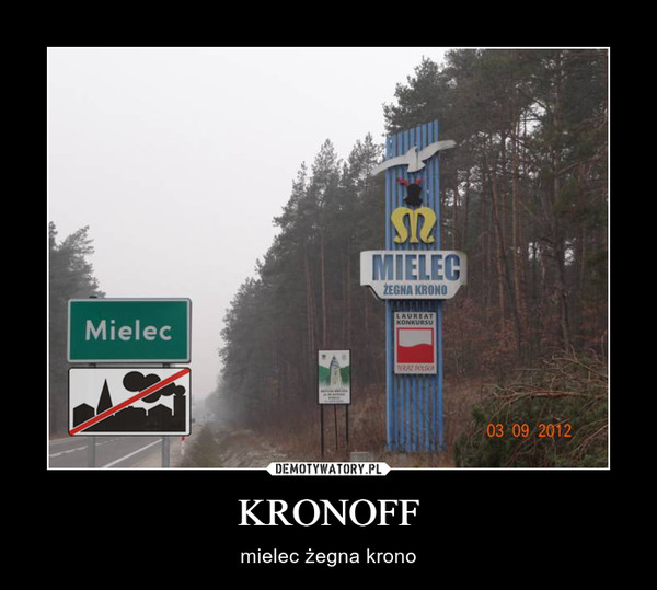 KRONOFF – mielec żegna krono