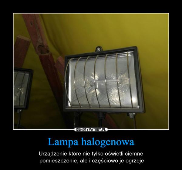 Lampa halogenowa – Urządzenie które nie tylko oświetli ciemne pomieszczenie, ale i częściowo je ogrzeje