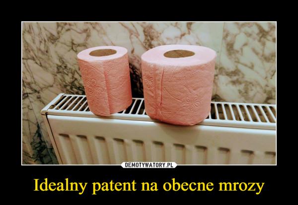 Idealny patent na obecne mrozy –