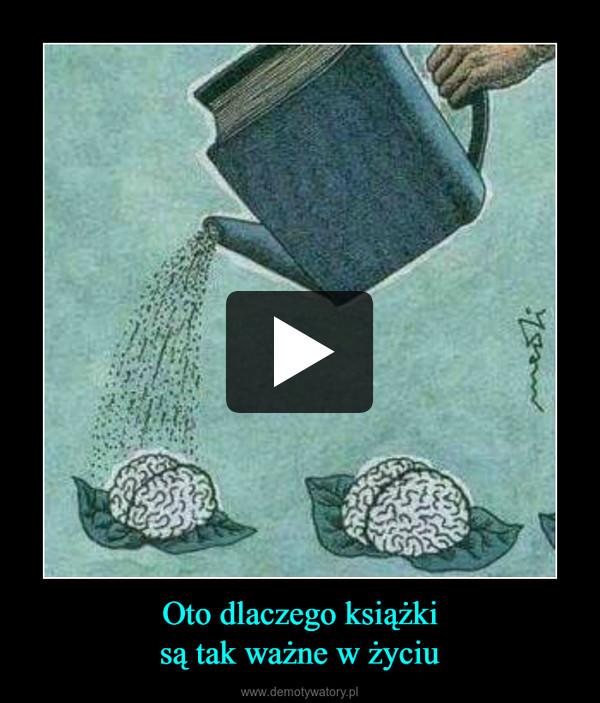 Oto dlaczego książkisą tak ważne w życiu –