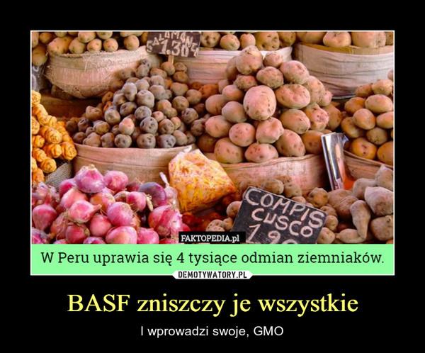 BASF zniszczy je wszystkie – I wprowadzi swoje, GMO W Peru uprawia się 4 tysiące odmian ziemniaków