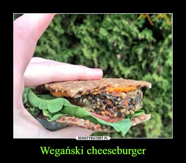Wegański cheeseburger –