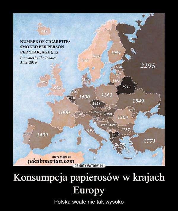 Konsumpcja papierosów w krajach Europy – Polska wcale nie tak wysoko