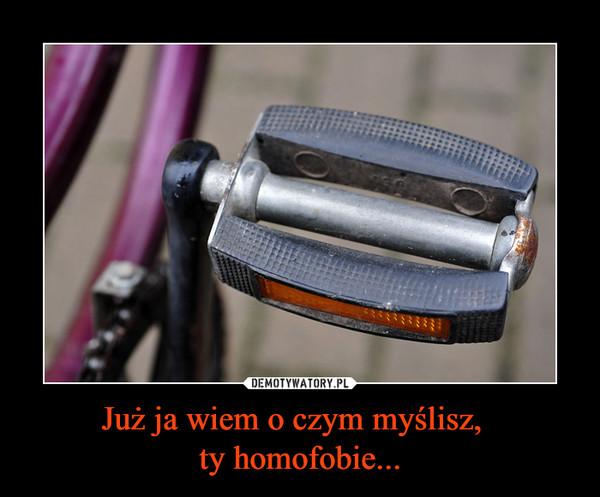 Już ja wiem o czym myślisz,  ty homofobie... –