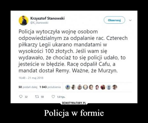 Policja w formie –