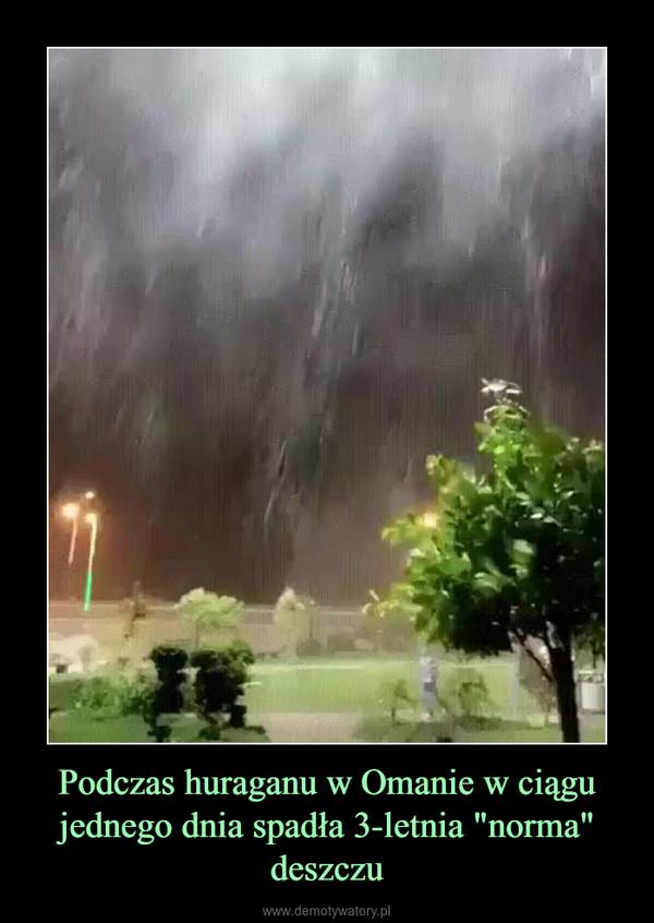 """Podczas huraganu w Omanie w ciągu jednego dnia spadła 3-letnia """"norma"""" deszczu –"""