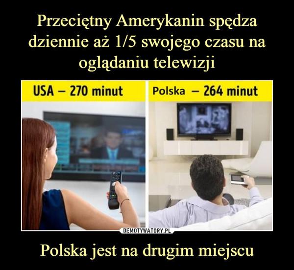 Przeciętny Amerykanin spędza dziennie aż 1/5 swojego czasu na oglądaniu telewizji Polska jest na drugim miejscu
