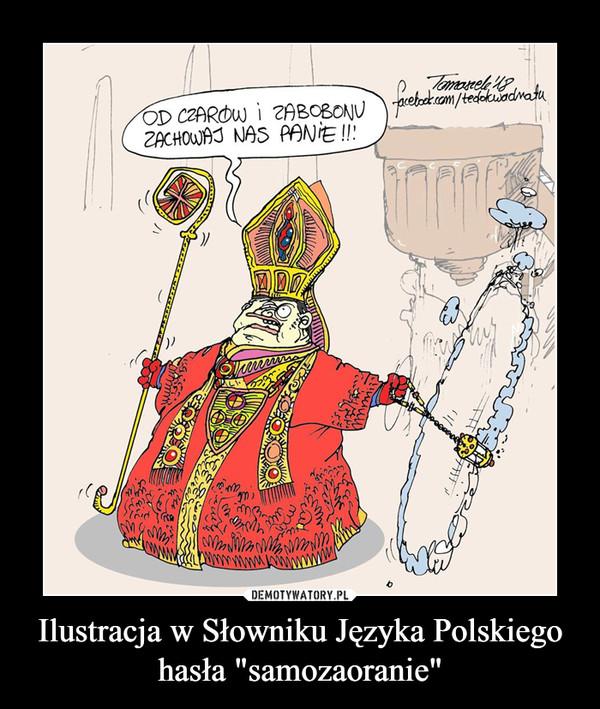 """Ilustracja w Słowniku Języka Polskiegohasła """"samozaoranie"""" –"""